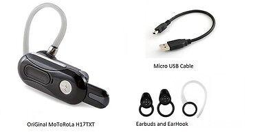 Motorola H17 Txt Autoflip Black Headset Play Music A2dp Txt Moto Speak Bluetooth