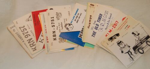 Vintage CB Radio Ham QSLCards, Lot of 50 from Ohio, See all photos, Ships FREE
