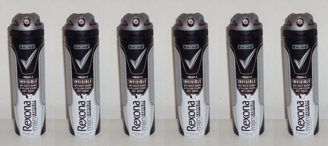 (100ml=2,21€) 6x Rexona Men Invisible Black + White Deo Spray Neu , 6x150ml