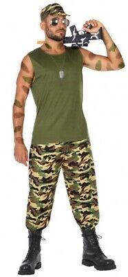 Déguisement Homme MILITAIRE XL Armée Soldat Commando Rambo NEUF pas cher