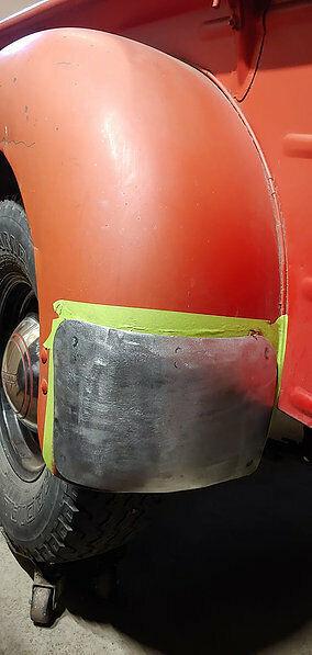 1941 to 1949, K/KB Steel Rear Fender Gravel Guards, NEW, 41-49 IH