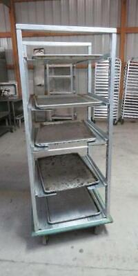 Aluminum Full Size Adjustable 5 Shelf Sheet Pan Rack Cart Bakery Cres Cor