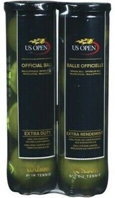 (2 Tubes) 8 Wilson US OPEN Tennis Balls Used for Tennis / Dogs / Sports