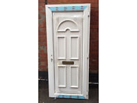 """NEW Eurocell UPVC Front Door And Frame 38"""" Wide 85'' High"""