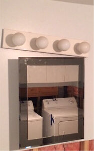 Bathroom vanity/cabinet and light $40 West Island Greater Montréal image 1