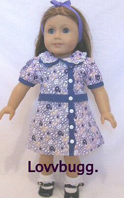 "Lovvbugg Ruthie Floral Dress Retro Style for 18"" American Girl Doll Clothes"