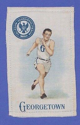 c1910s S22 tobacco silk / felt GEORGETOWN COLLEGE / UNIVERSITY RUNNER / TRACK