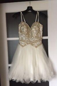 PROM Dress - Beautiful Gold Beading
