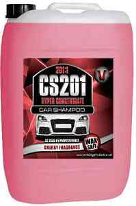25 LITRE CONCENTRATE CAR SHAMPOO CHERRY WASH AND WAX VALETING BUSINESS PRODUCTS