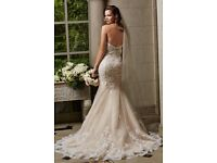 Wedding Dress by Watters Lace Fishtail Fitted 8-10 RRP £1500