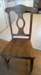 Solid Oak Hall / Occasional Chair