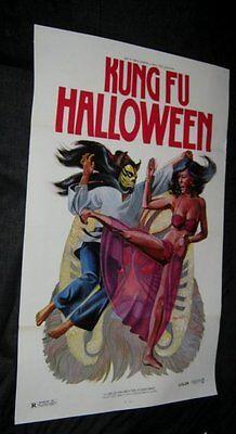 Original Tri Fold KUNG FU HALLOWEEN Martial Arts GRINDHOUSE CLASSIC Ken Hoff Art](Kung Fu Halloween)