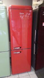 BRAND NEW Red Swan SR11020GN Retro Tall Fridge Freezer with 6 MONTHS WARRANTY