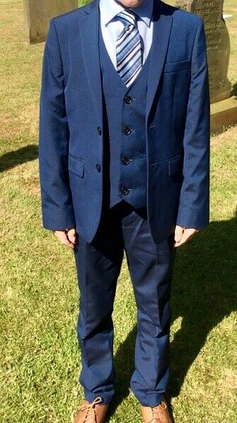 Boys Navy Suit And Shoes Holy Communion Or Wedding In