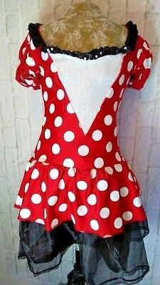 Size Medium (8-10) DISNEY MINNIE MOUSE Short Sexy Cosplay COSTUME Dress - Halloween Costume Sequin Shorts