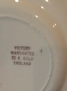 Antique Victory plate made in England Windsor Region Ontario image 3