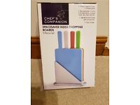 Spacesaver index chopping boards. 5 piece set