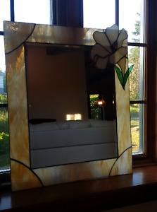Stained glass  mirror...Unique work of art