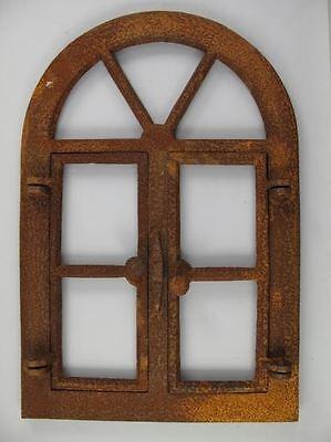 Stall Fenster Gußeisen 2 Klappen rostig D.40x60cm Fenster Gußeisen Geschenk Haus