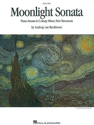 Moonlight Sonata Sheet Music Piano Solo NEW Beethoven -