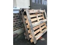 2 x WOODEN PALLETS - FREE