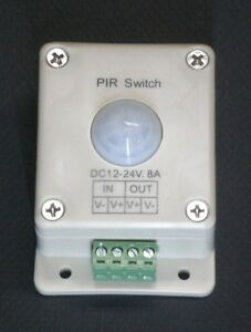 LED-LIGHTING-MOTION-DETECTOR-SWITCH-12-24-VOLT-DC-8-AMP-LIGHT-ON-OFF-CONTROL