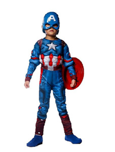 Value Special Captain America Superhero Fancy Set Costume Shield