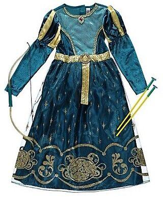 Disney Princess Merida Costume bow and arrow Fancy Dress Kids  3-4 5-6 7-8 9-10](Arrow Kids Costume)