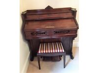 Antique pump organ with stool. £65.