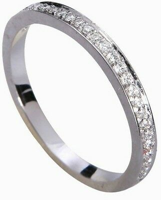 0.16ct Pave 18K White Gold Engagement Wedding Band - White Gold Ladies Wedding Band