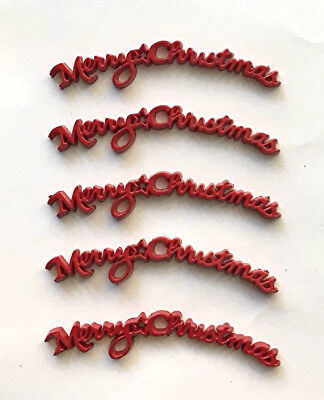Jesse James Buttons - Dress It Up  -MERRY CHRISTMAS word embellishments~ - Christmas Buttons