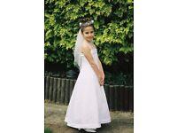 Girls White Bridesmaid Dress