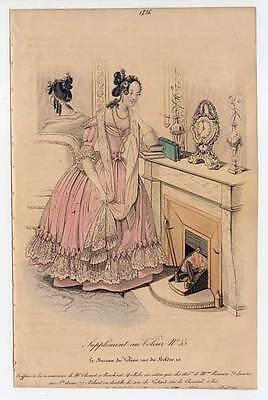Mode-fashion print - Stahlstich 1836 Petit Courrier des Dames, Journal des Modes