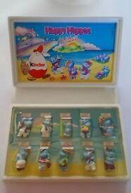 Very Rare Kinder Toys Happy Hippo Set in Folder
