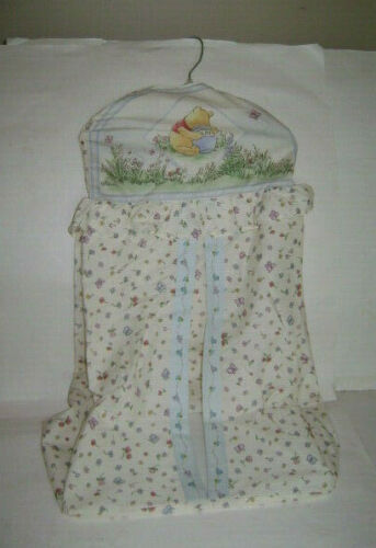 Disney Classic Winnie Pooh Baby Nursery Diaper Holder Hanger Hamper Storage RARE