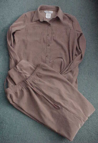 MOTHERHOOD Maternity Butterscotch Shirt EASTER Work Pants Outfit Suit Set SMALL