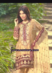 Pakistani designerMeena Hussein dress