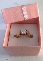 1.03 princess diamond engagement ring