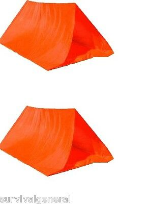 (2) One Two Person Tent Camping Pup Shelter Waterproof Equipment Gear Emergency