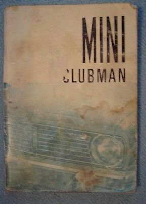 MINI CLUBMAN OWNER'S HANDBOOK
