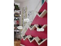 I can deliver - VERY RARE: Good condition one White IKEA Lack Floating Zig Zag Shelf