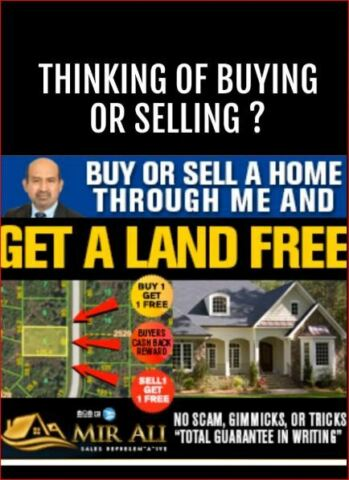 if you buy-sell-invest through me you get a free building lot