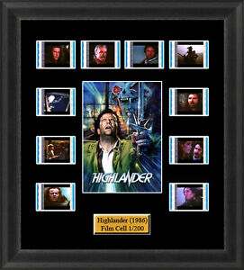 Highlander (1986) Film Cell Memorabilia FilmCells Movie Cell Presentation