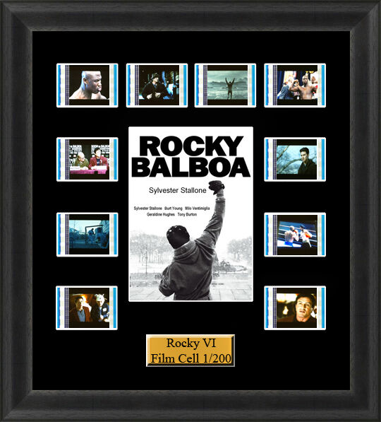 Backlight Rocky 6 (2006) Rocky Balboa Film Cell Memorabilia FilmCells Backlit
