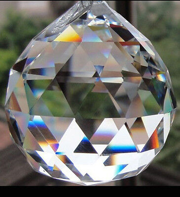 Crystal Prism 20MM Feng Shui Clear Faceted Hanging Glass Ball Sun Catcher  - Crystal Suncatchers