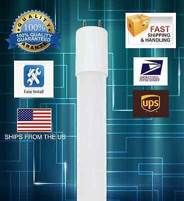 (10) LED Tube T8 4FT 17W DLC Fluorescent Replacement Bulb Ballast compatible  17w T8 Fluorescent Bulb