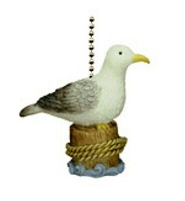 Coastal Beach Decor Sea Gull Seagull Perched On Piling Fan Light (Sea Gull Lighting Fan)