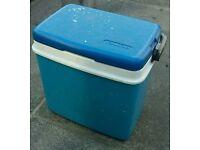 Blue cool box
