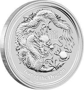 20 x 2012 Perth Mint 1oz - Lunar Dragon silver bullion coin 1 oz 99.9%