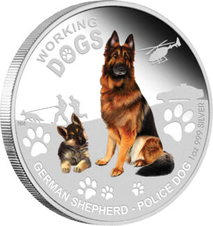 2011 Working Dogs German Shepherd 1oz Silver Proof Coin Caboolture Caboolture Area Preview